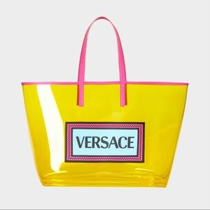 NWT Versace PVC Oversized Tote